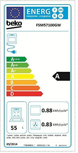 Beko FSM57100GW Herd (Elektro / Freistehend) / 50 cm / Restwärmeanzeige / PractiClean / schwarz / pflegeleichte Emaillierung / abnehmbare Backofentür - 2