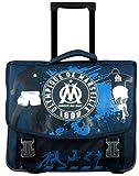 Olympique de Marseille Cartable Roulette Mixte Enfant, Bleu, 41 cm