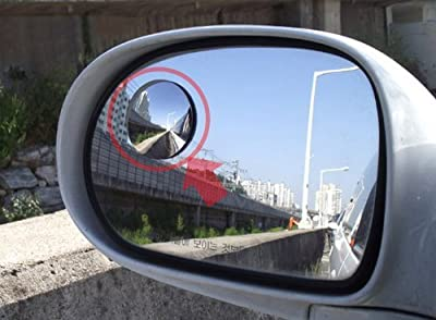 Cardeco Moving Slim Circle Blind Spot Mirror SL Lens 50.8mm 2-pc Set For All Universal Vehicles Car Fit