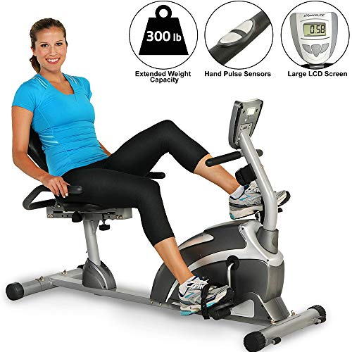 EXERPEUTIC Paradigm Health and Wellness 7102 1000 Alta Capacidad magnético Recumbent Bike w/Pulso más Asiento Extended