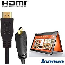Lenovo Yoga 71035,6cm 2in 1–nero di micro HDMI a HDMI TV lungo cavo di piombo cavo 2m