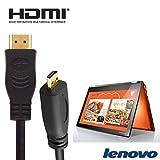 Lenovo Yoga 71035,6cm 2in 1–Schwarz Laptop HDMI Micro zu HDMI TV lang Draht Blei Kabel 2m