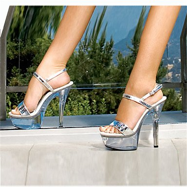 Moda Donna Sandali Sexy donna tacchi Estate / Piattaforma di caduta di materiale personalizzato Wedding / Party & Sera / Casual Stiletto Glitter / Crystal White