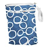 Nasse Wiederverwendbare Babytasche Wickeltasche Windeltasche mit Reißverschluss Stofftasche aus...