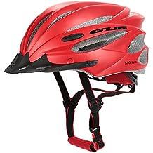 lixada bicicleta casco Roller Skating Roller–Casco de protección, 17Vents Skating Casco/desmontable dimensión Interior acolchado/integrada en Mould Ultra Ligero, rojo
