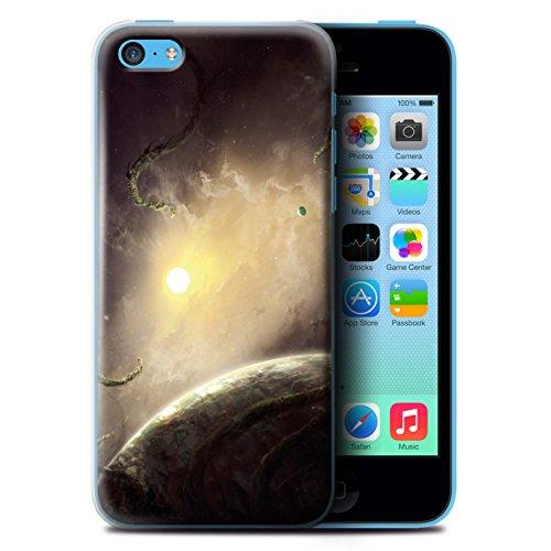 Offiziell Chris Cold Hülle / Case für Apple iPhone 5C / Exoplanet Muster / Galaktische Welt Kollektion Entfernten Stern