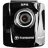 Transcend DrivePro 220 TS16GDP220A Enregistreur Vidéo Dashcam pour voiture avec GPS et WiFi (fixation autocollante)