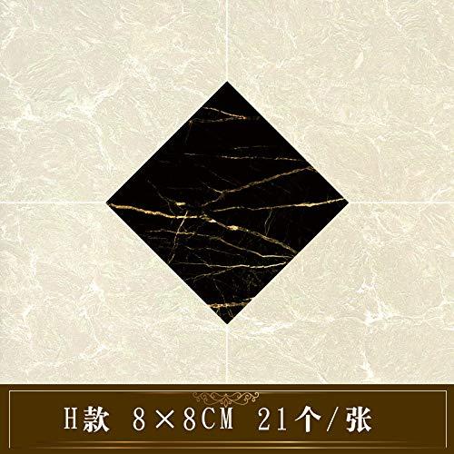 lsaiyy Wohnzimmer wasserdicht und verschleißfest Bodenaufkleber dekorative Küchenfliesen Bodenfliesen diagonale Aufkleber Selbstklebende Badezimmeraufkleber H 8cmX8cmX21 -
