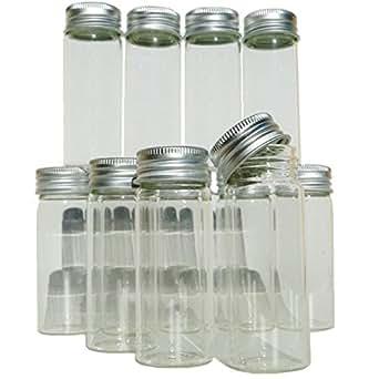 set 12 minis flaschen flaschen 8 cm aus glas mit. Black Bedroom Furniture Sets. Home Design Ideas