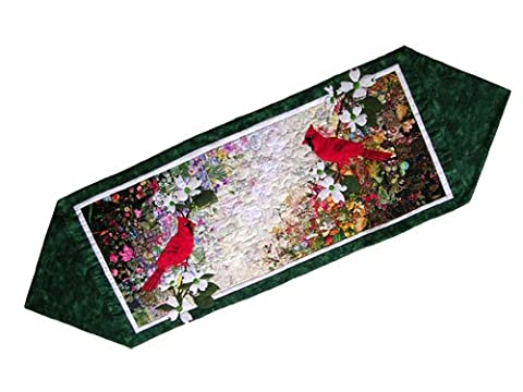 Whims Watercolor Quilt Kits Cardinal Table Runner Quilting Supplies by Whims Watercolor Quilt Kits