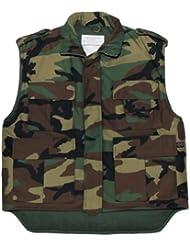 Ejército de los E.E.U.U. Chaleco acolchado woodland S- XXL - M