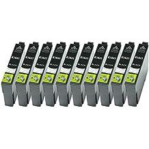 10XL solo negro Cartuchos de impresora Epson T1631Nº 16apto para Epson Workforce WF- 2010, 2510, 2520de WF, WF WF-2530, WF 2540, WF de 2630, 2660de de 2650, WF, WF de 2750, WF de 2760