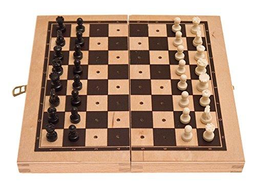 Preisvergleich Produktbild Schachkassette, Holz, FG 18 mm, KH 16 mm, Randbeschriftung, Reisespiel,