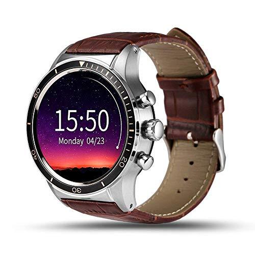 KLAYL Intelligente Uhr Intelligente Uhr 4G Bluetooth SmartWatch TelefonZ28 Android 7.0 1 GB + 16 GB Herzfrequenz GPS Smart Watch Männer für Samsung Gear S3 Huawei Uhr 2 KW88, schwarz