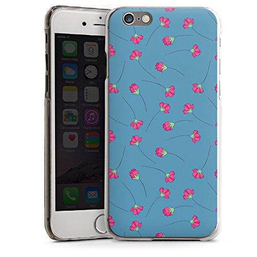 Apple iPhone 4 Housse Étui Silicone Coque Protection Fleurs Fleurs Bleu CasDur transparent