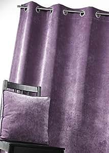 homemaison hm6948888 rideau velours doublure isolant thermique phonique polyester figue 135 x. Black Bedroom Furniture Sets. Home Design Ideas