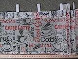Scheibengardinenstoff CAFFEE LATTE 30cm hoch auf Schlaufen