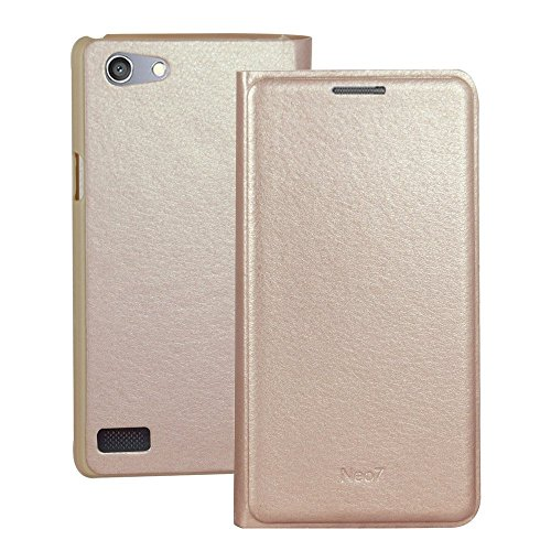 Generic A33F Flip Case For Oppo Neo 7 (Gold)