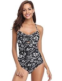 46632034aecc0 Hawiton Bikini Sexy Mujer Push up Trajes de Baño Mujer 2019 Dos Piezas V  Bikinis Floral Halter Traje de Baño de…