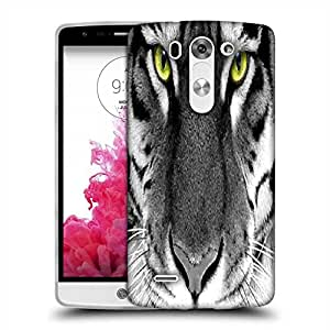 Snoogg White Tiger Designer Protective Phone Back Case Cover For LG G3 BEAT STYLUS