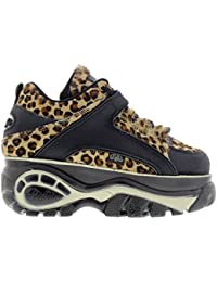Buffalo Womens 1339-14 Vacca Leopard Leather Shoes