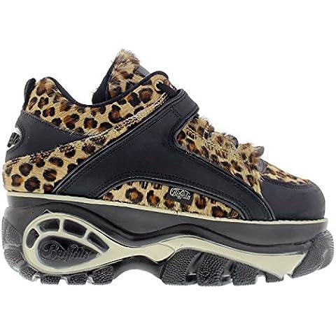 Buffalo Womens 1339-14 Vacca Leopard Leather