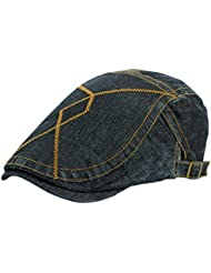 Leisial Hombre Boinas Vaquera Vintage Gorra con Visera Deporte al Aire Libre Sombrero del Sol Sencilla Ocio Sombreros de Viajes para Unisex-Adult,Azul
