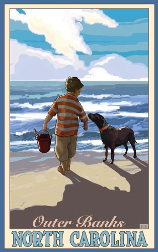 northwest-art-mall-outer-banks-ragazzo-con-il-cane-north-carolina-wall-art-by-joanne-kollman-11-da-4