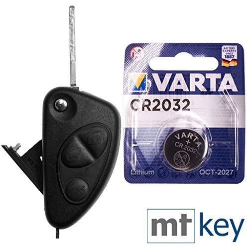 ALFA ROMEO Kit di riparazione Kit di riparazione chiave auto con 3 pulsanti + Blank + Batteria per Alfa Romeo 156 147 937 GT 97-10