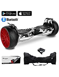 """EVERCROSS 8.5"""" Hoverboard Scooter Patinete del mano Eléctrico Bluetooth APP self balancing 350WX2 Challenger GT (Army Green)"""