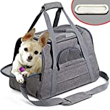 HLYMNB Dog Carrier Portable Pet Backpack Messenger Cat Carrier Outgoing Small Dog Travel Bag Soft Side Breathable Pet Carrier For Cat