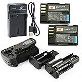 DSTE D-BG5 Poignée Batterie + 2x D-LI90 Batterie + USB Chargeur pour Pentax K3 K3 II
