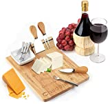 Decodyne - Juego de tabla de queso con 3 cuchillos y 4 tenedores pequeños para servir, incluye plato de...