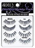 ARDELL Glamour Variety Pack, 4 Paar Echthaarwimpern in 4 verschiedenen Styles, einfach natürlich schön aussehen für jeden Anlass