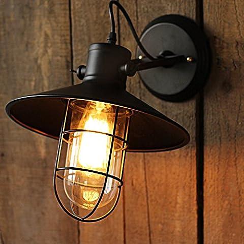 Créatif rétro bar vêtements magasin restaurant la lampe de chevet (ampoule)