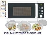 Forno a microonde combinato con grill 800/1000W in Bianco, incl. 5PZ. SET BASE DI Forno a microonde