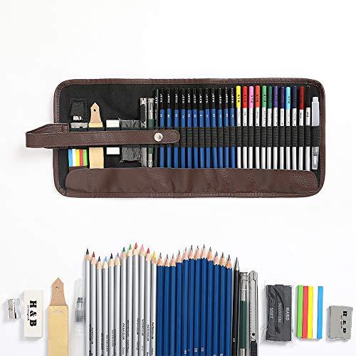 Lapices De Dibujo Artístico, Lugoo Set de Lápices Profesional Carbó