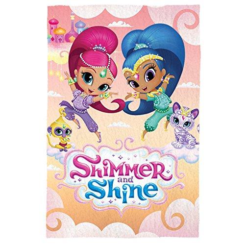 Shimmer Und Shine SH17000 Fleece Decke, Polardecke, Kinderbettausstattung, 150 Zentimeter, Mehrfarbig