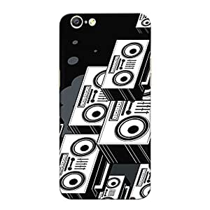 CrazyInk Premium 3D Back Cover for Oppo A57 - Old Music Player Vector Art