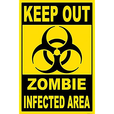 Zombies - Keep Out, Zombie Infected Area Póster Impresión Artística (120 x 80cm)