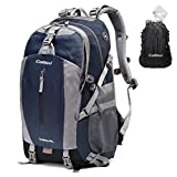 Colisal 40L Hiking Backpack Waterproof Trekking Rucksack with Rain Cover and Hydration Daypack