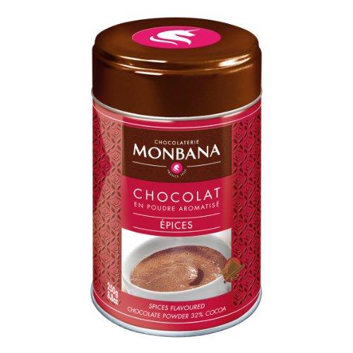 Monbana Chocolat Poudre à épices chocolat 250g (min. 32% Cacao), 1er Pack (1x 250g)