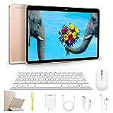 Tablet 10,1 Pollici con Wifi Offerte, Tablet Android 8.1 3GB RAM 64GB, 128 GB Espandibili, 12MP Dual SIM Quad Core Tablet PC Offerta Del Giorno con Tastiera Netflix/OTG Bluetooth