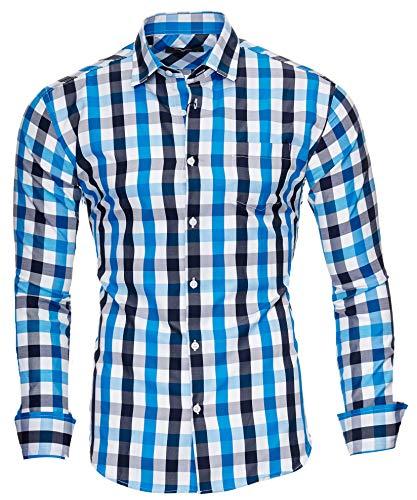 extra slim fit hemden Kayhan Herren Hemd, DOPPELFARBIG Tükis L