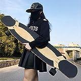 Longboard Drop Deck Longboard Completo Outdoor Fun Skate Tool Per Adulti Con Cuscinetti ABEC-9 Ad Alta Velocità, Tavole Da Pattinaggio Freeride Drop-Through