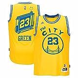 adidas Draymond Green Golden State Warriors NBA Uomo Oro Hardwood Classics Swingman Jersey, Uomo, Gold