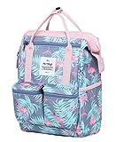 DISA Mini Small Backpacking Purse | Fits 12-inch iPad Pro | 35x23x15cm | Millennial Flamingos