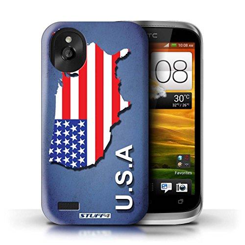 Kobalt® Imprimé Etui / Coque pour HTC Desire X / Autriche conception / Série Drapeau Pays Amérique/Américain/USA
