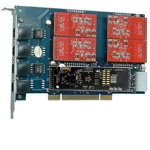 4Port FXO PCI Telefon Karte mit Echo Cancellation Modul (4-port Fxo Analog)