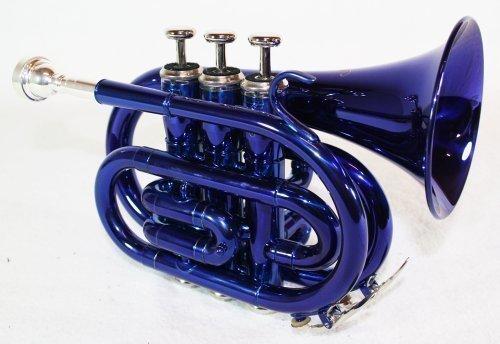 Cherrystone 4260180881769 Taschentrompete Pocket Trompete blau